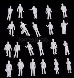 Lot Of 100 Model Train People Figures 1:100 Scale HO White U