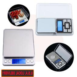 Mini Pocket Digital Jewelry Scale Weight 500g-2000g 0.1g Bal