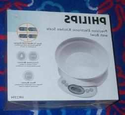 New Philips HR2394 Precision Electronic Kitchen Scale with 1