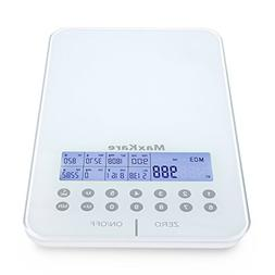 MaxKare Digital Nutrition Food Scale with Tempered Glass and