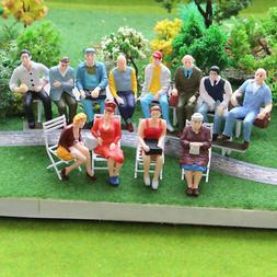 P2509 12pcs G scale Figures 1:22.5-1:25 All Seated Painted P