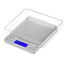 Proster Digital Food Scale 500g/0.01g Portable Kitchen Scale