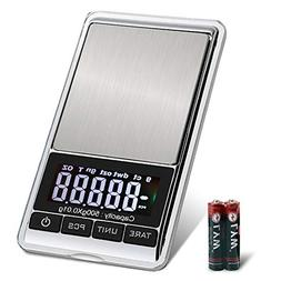 MVZAWINO Digital Pocket Scale, 0.001oz/0.01g 500g Precision