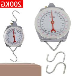 New 200kg Heavy Duty Hanging Weighing Scales with Hook Fishi