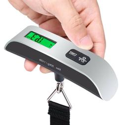 Portable Digital Luggage Scale LCD Display Travel Hook Hangi