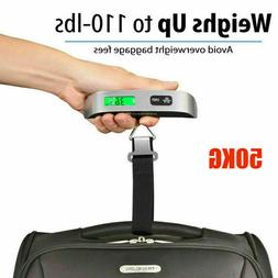 Portable Luggage Weighing Scale LCD Digital Hook Scales for