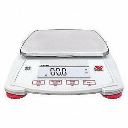 OHAUS Portable Scale,2200g,0.01g,Backlit LCD, SPX2202