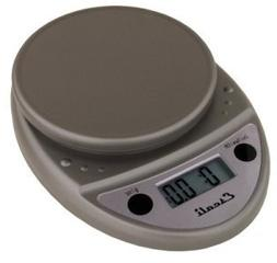Escali Primo Digital Scale, 11 Lb / 5 Kg, Metallic, 1 ea