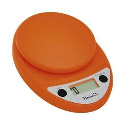 Escali Primo Digital Scale, 11 Lb / 5 Kg, Pumpkin Orange, 1