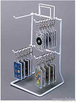 For Sale Counter Peg Hook Key Chain Display Rack - 2 Tier 4