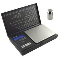 American Weigh Signature Series Black Digital Pocket Scale,