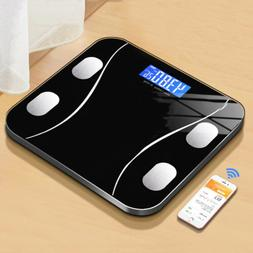 Smart Body Scale Digital Bathroom Weight w/ LCD Display Blue