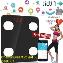 Smart Body Weight Scale Digital Bathroom Fat Bones BMI Bluet