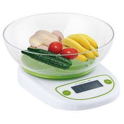 Smart Weigh CSB5KG Cuisine Digital Scale with Removable Bowl