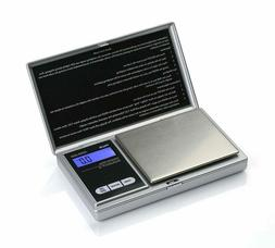 American Weigh SS Pocket Scale Back-Lit LCD Screen, Flip-Up