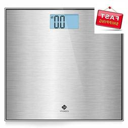 Stainless Steel Digital Body Weight Bathroom Scale Step-On T