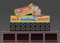 Sunbeam Bread Animated Sign Kit #44-3302 N or HO Scale Mille