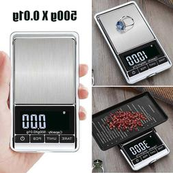US 500g 0.01 Digital Pocket Scales Jewellery Electronic Mill