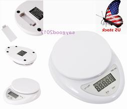US 5kg/1g LCD Digital Electronic Scale Kitchen Food Postal S