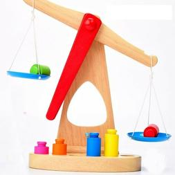 Wooden Scale Digital Balance Toys For Kids Classic Balancing