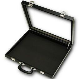 X-Large Black Glass Top with Handle Portable Sales Display S